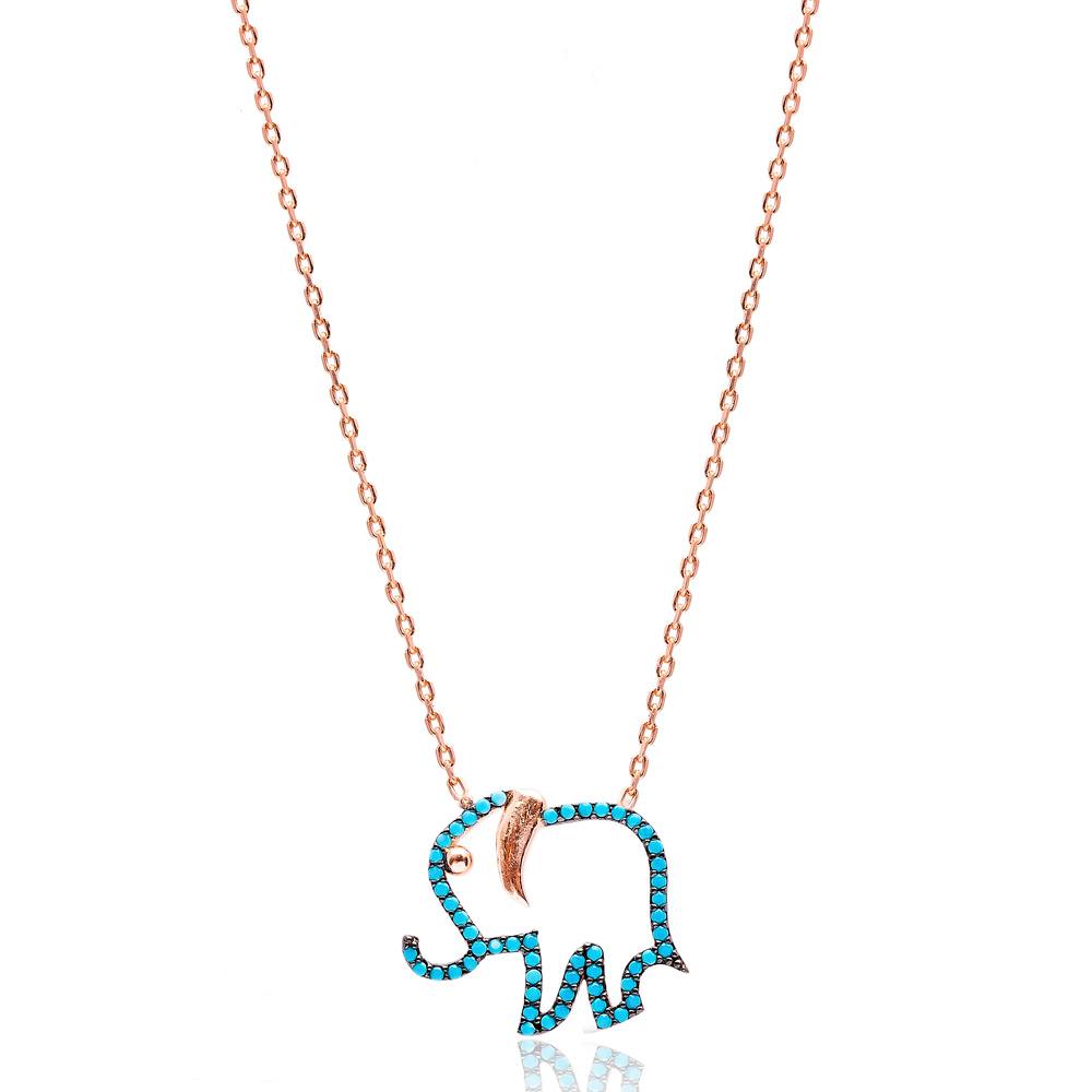 Elephant Nano Turquoise Pendant In Turkish Wholesale Silver Pendant