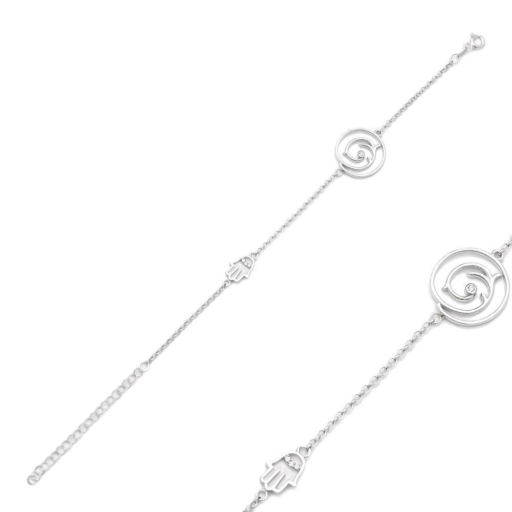 Hamsa Charm Bracelet Wholesale Handcraft 925 Sterling Silver Jewelry