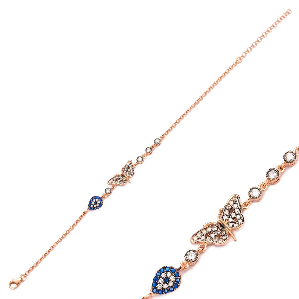 925 Sterling Silver Bracelet Butterfly Design Wholesale Jewelry