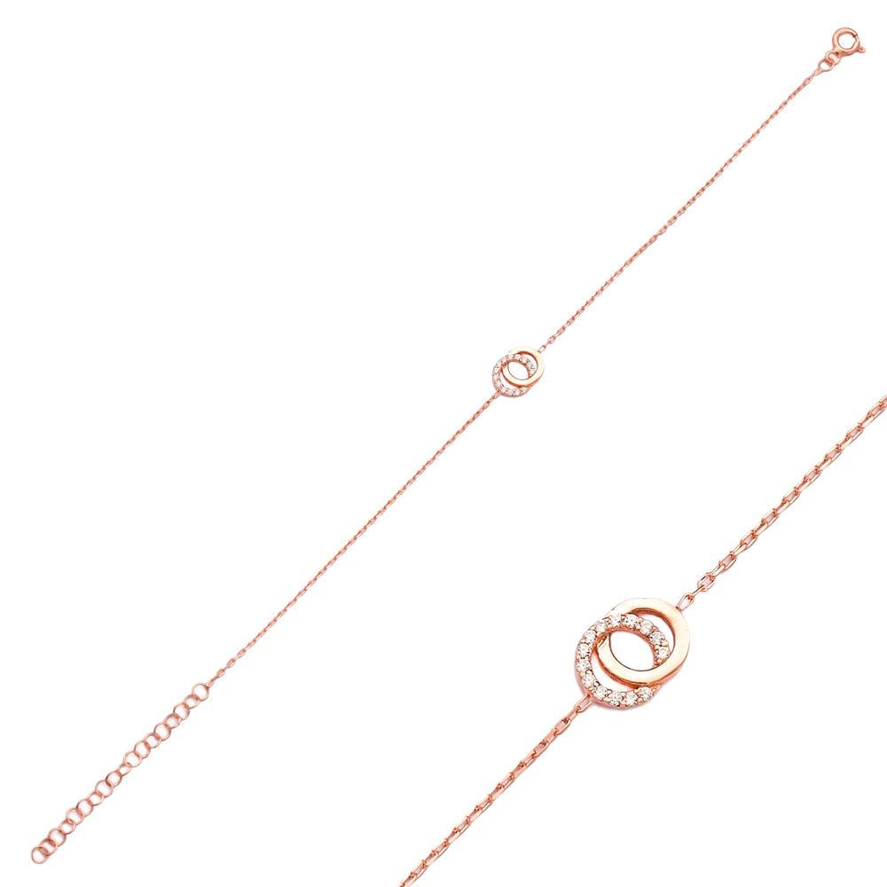 Double Round Design Wholesale 925 Sterling Silver Bracelet