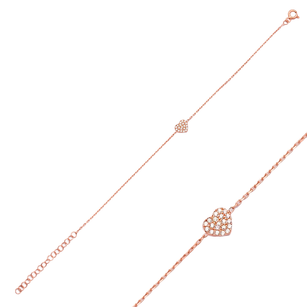 Heart Design Bracelet Wholesale 925 Sterling Silver Jewelry