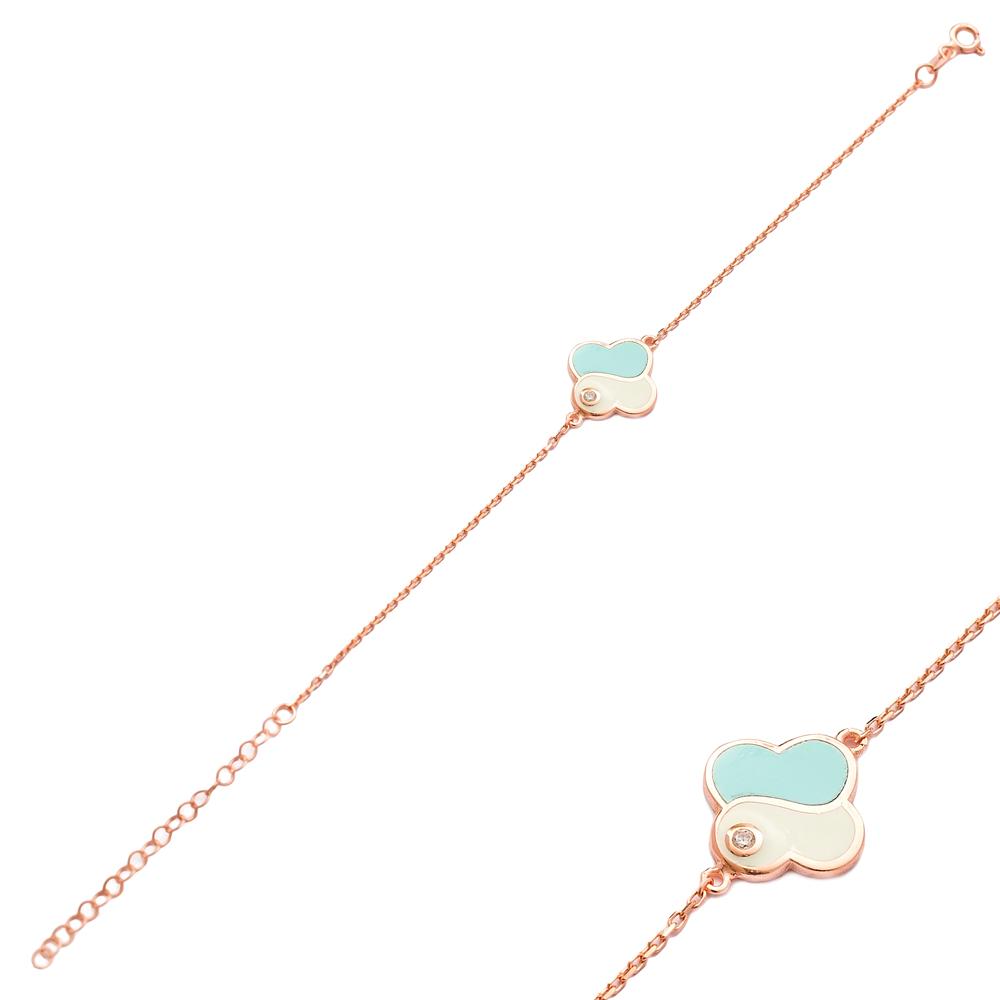 Trendy Enamel Design Bracelet Wholesale 925 Sterling Silver Jewelry