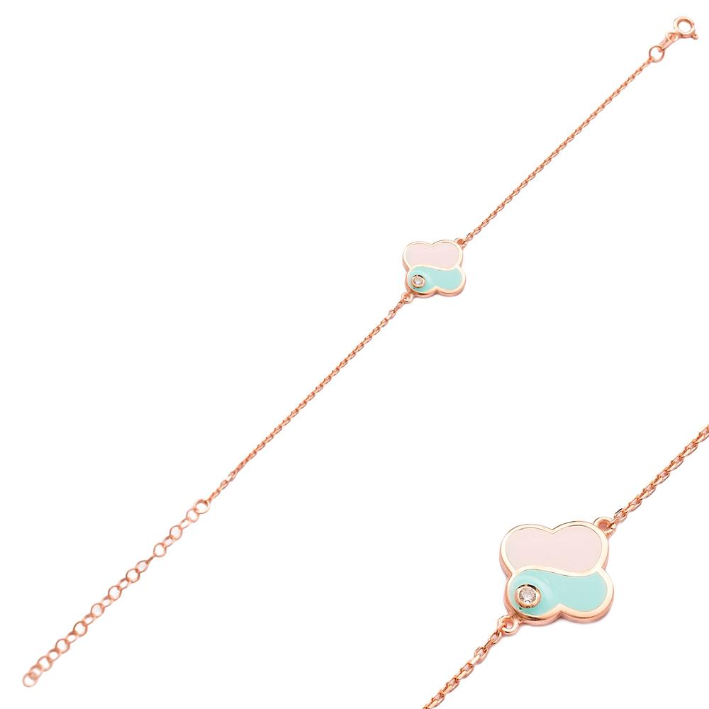 Fashionable Enamel Design Bracelet Wholesale 925 Sterling Silver Jewelry