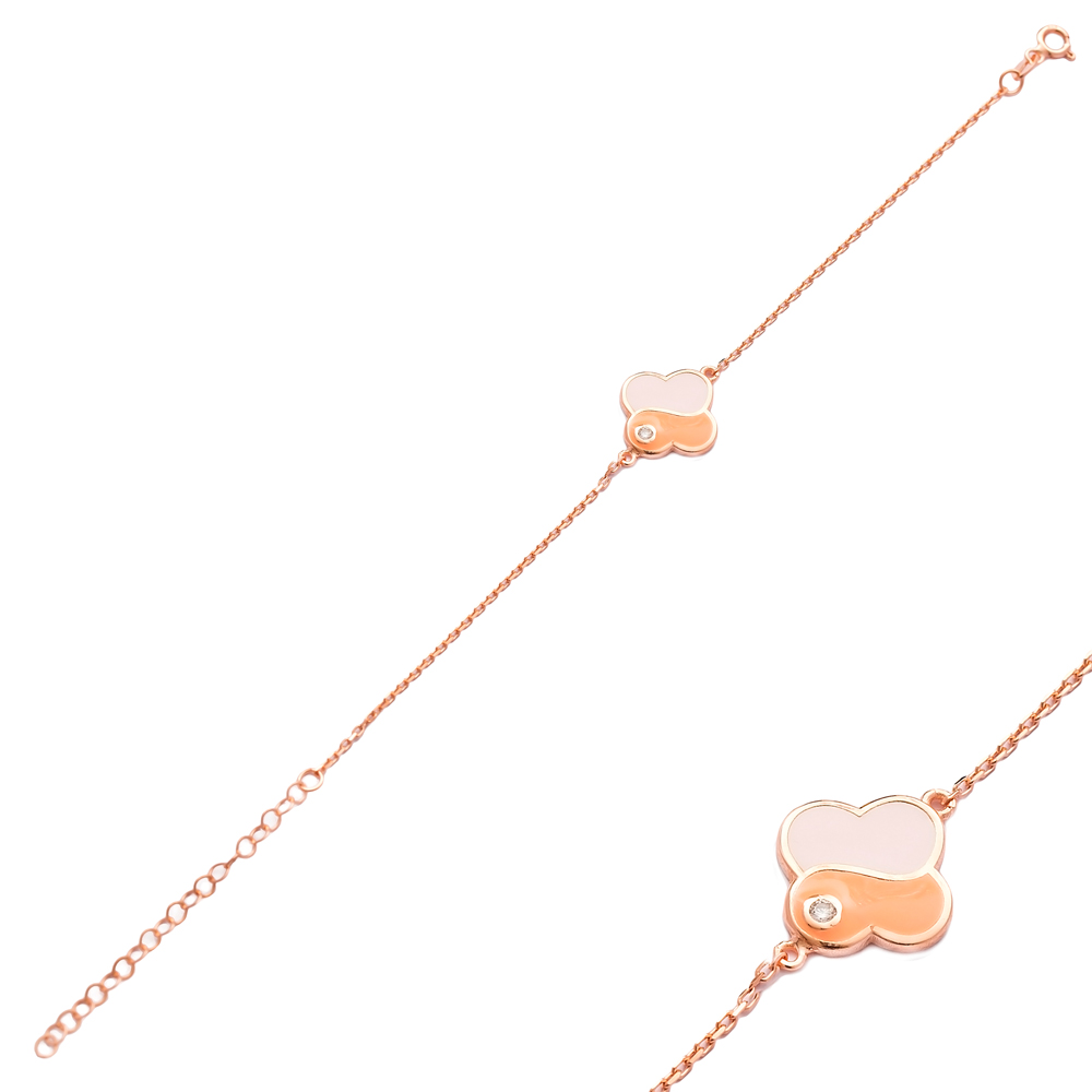 New Fashion Enamel Design Bracelet Wholesale 925 Sterling Silver Jewelry