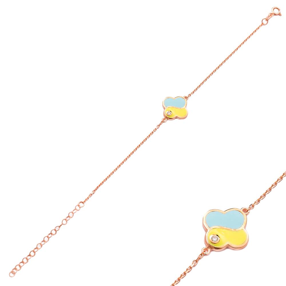 Unique Enamel Design Bracelet Wholesale 925 Sterling Silver Jewelry