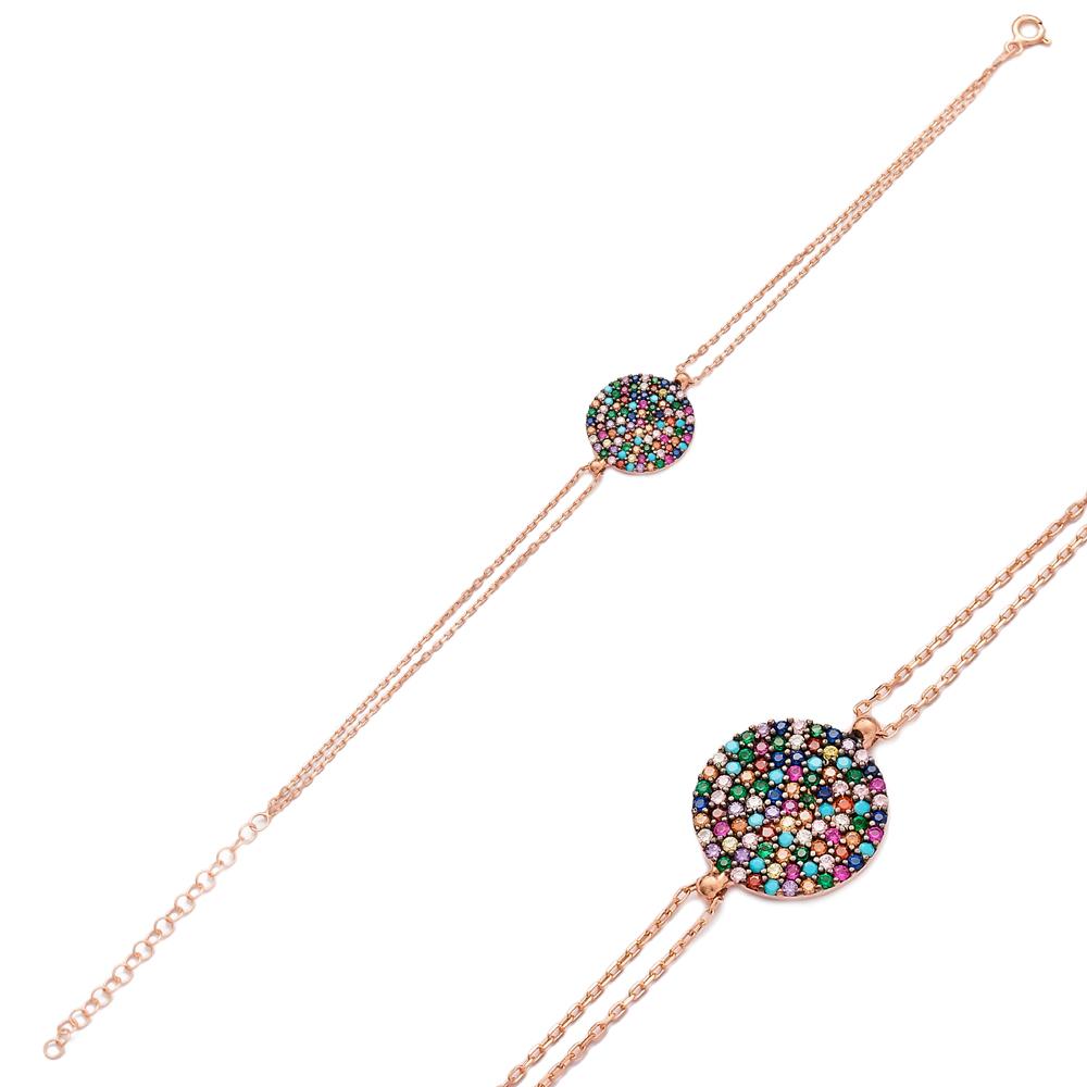 Round Colorful Sterling Silver Wholesale Handmade Turkish Design Bracelet