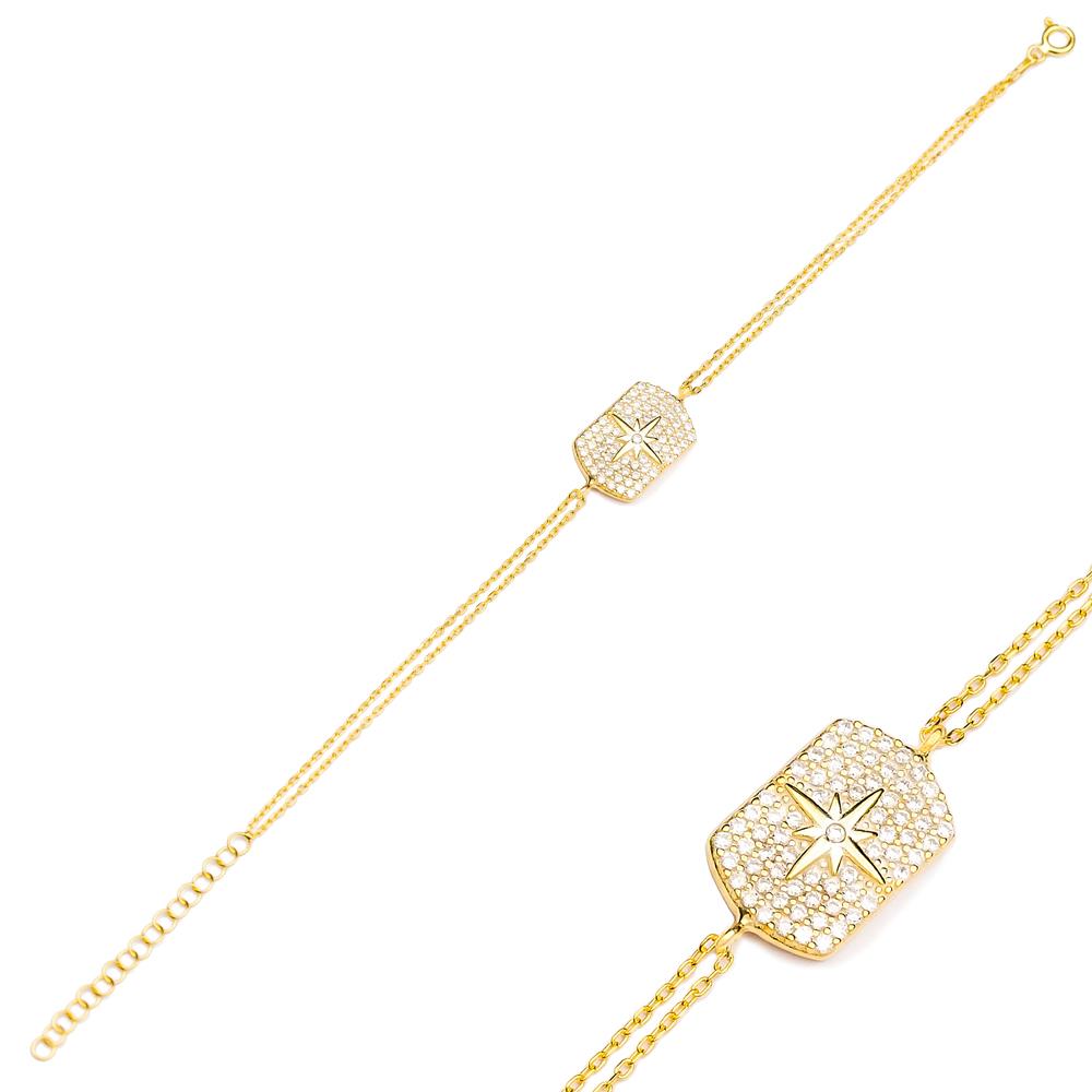 Fashion Zircon Charm Bracelet Wholesale Turkish 925 Sterling Silver Jewelry