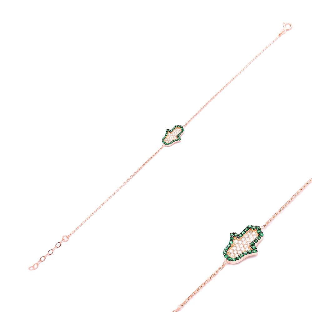 Sterling Silver Wholesale Handcraft Hamsa Design Bracelet