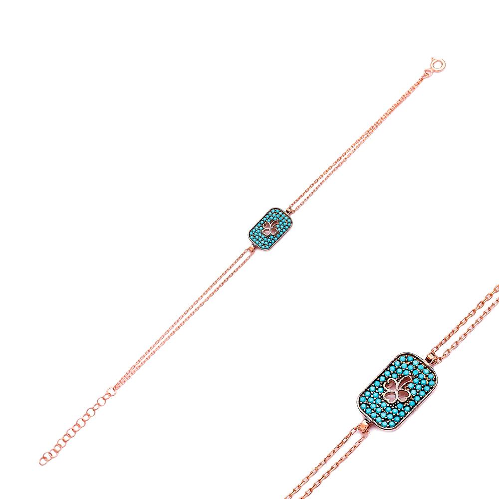Sterling Silver Wholesale Handcraft Turkish Clover Design Bracelet