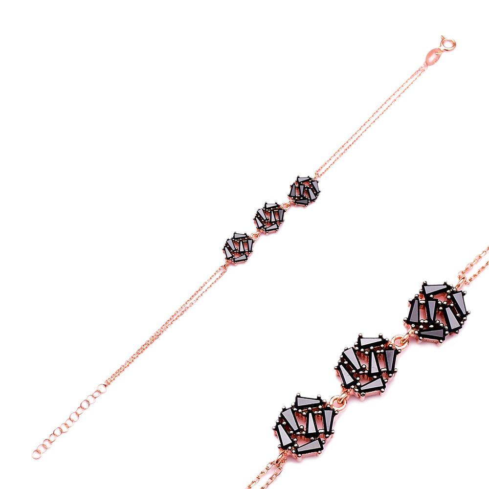 Sterling Silver Wholesale Handcraft Turkish Baguette  Bracelet