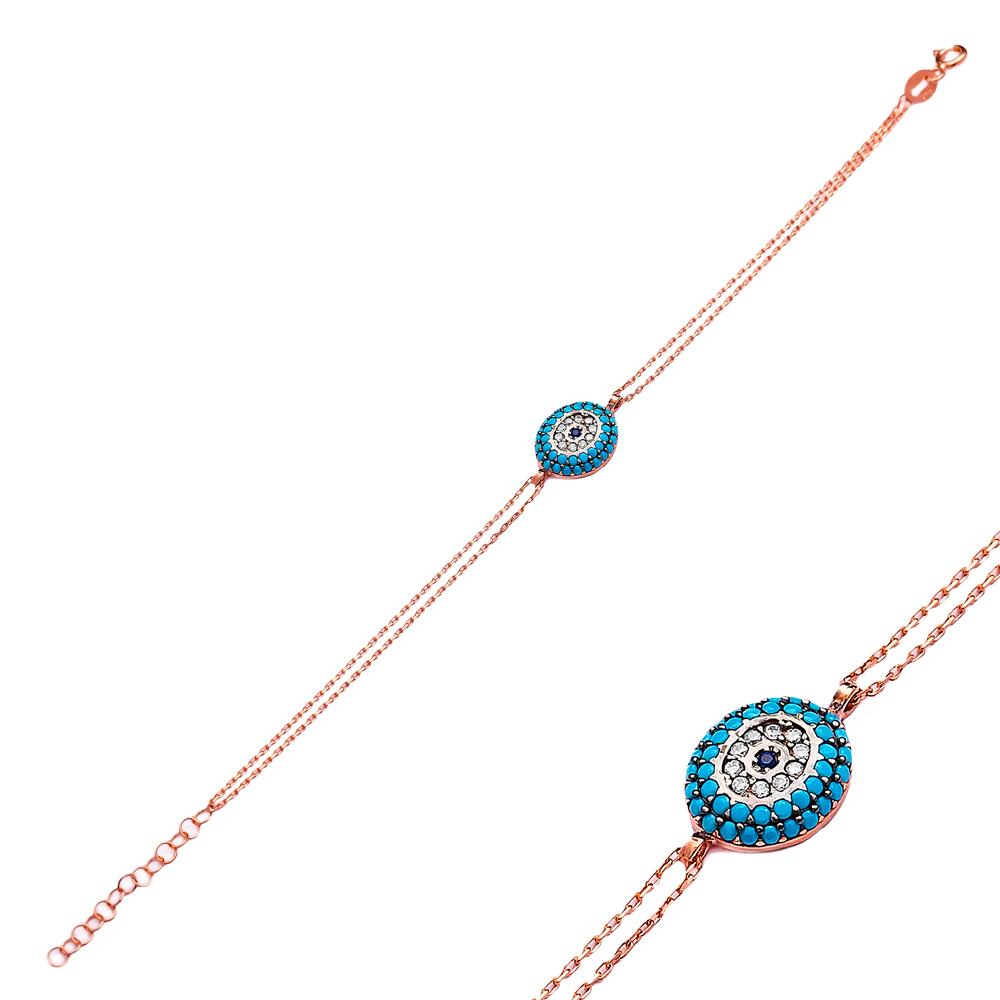 Evil Eye Sterling Silver Wholesale Handcrafted Turkish Design Bracelet