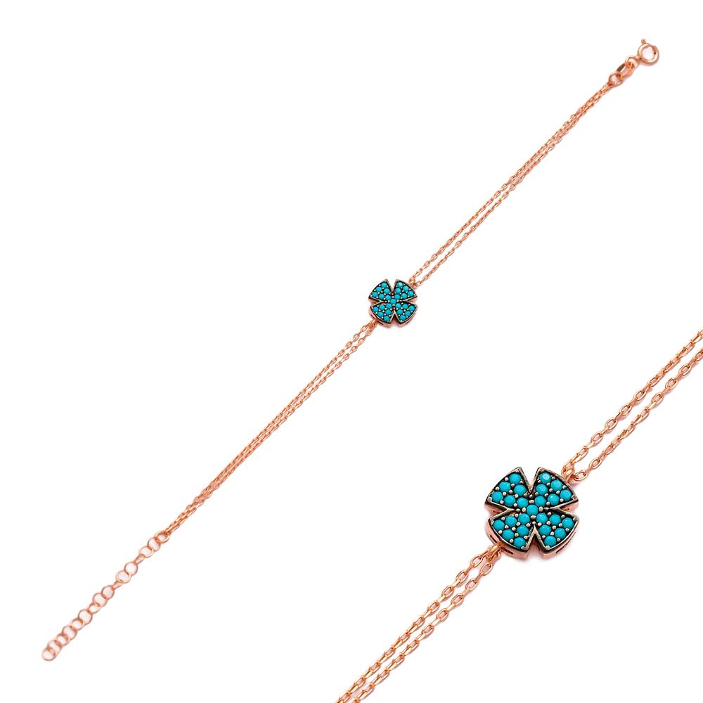 Clover Bracelet Wholesale Handcraft Silver Sterling Jewelry