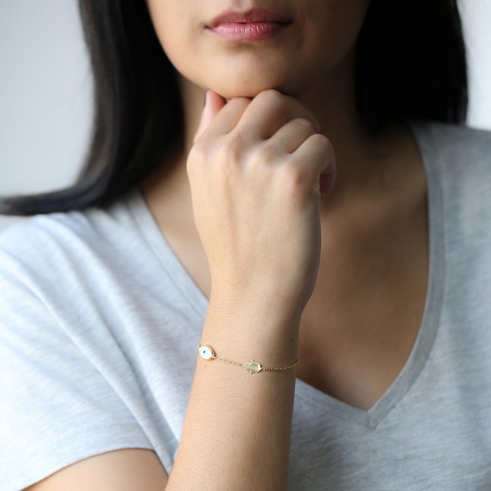 Evil Eye with Hamsa Silver Sterling Wholesale Handcraft Jewelry Bracelet