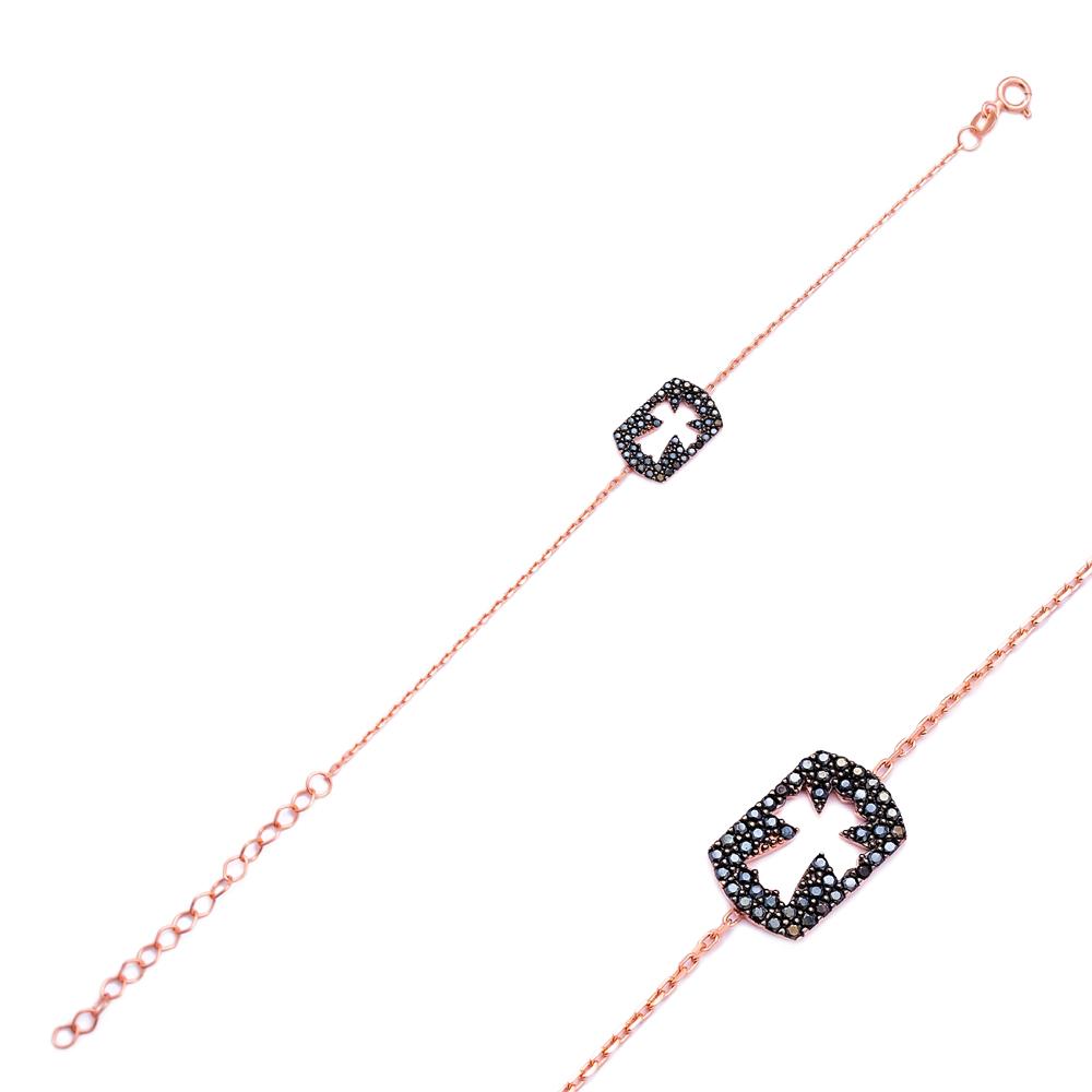 Silver Cross Handcrafted Bracelet Wholesale 925 Sterling Silver Jewelry