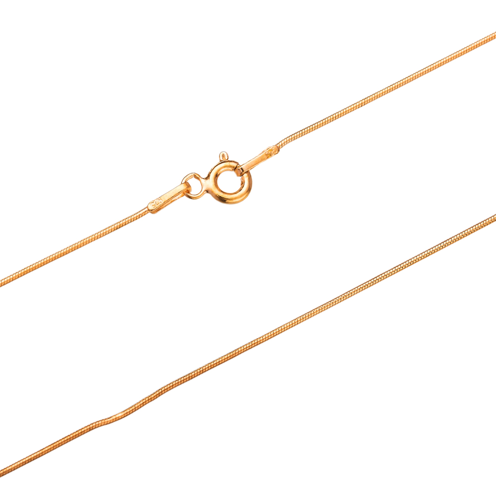 Snake Rosa Gold Plated Chain Silver Necklace