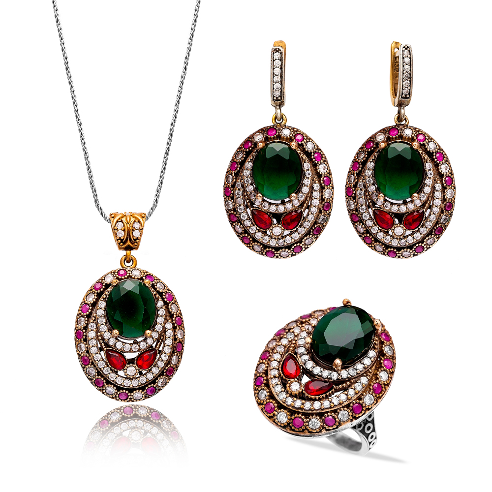 Authentic Handcrafted Wholesale Turkish Silver Set
