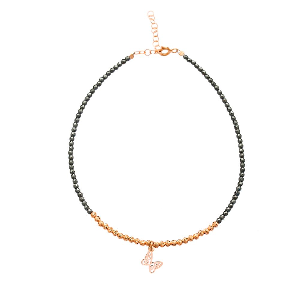Hematite Stone Charm Anklet Wholesale Handmade Turkish Jewelry Anklet