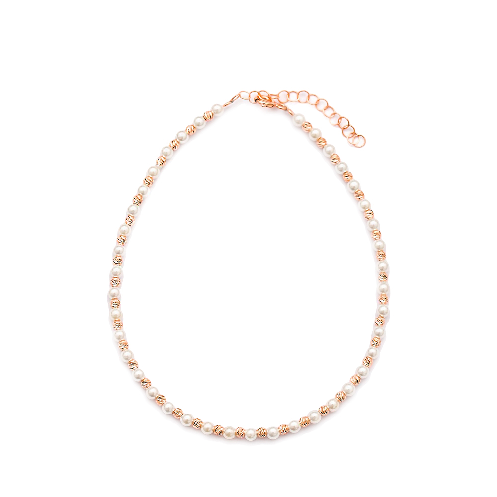 Minimalist Design Turkish Wholesale Handcrafted Silver Pearl Stone Anklet