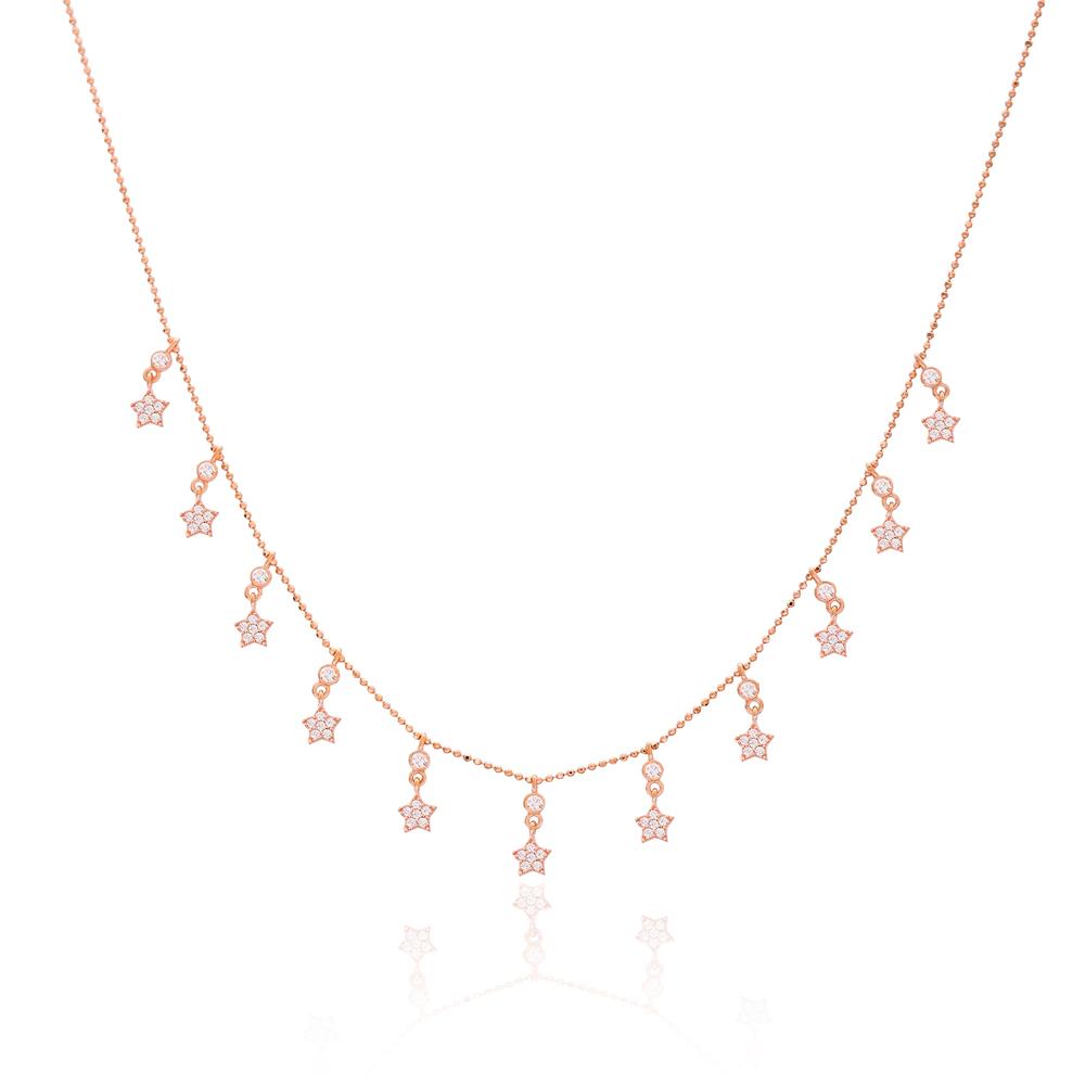 Minimalist CZ Star Charm Jewelry Wholesale Handmade 925 Silver Sterling Necklace