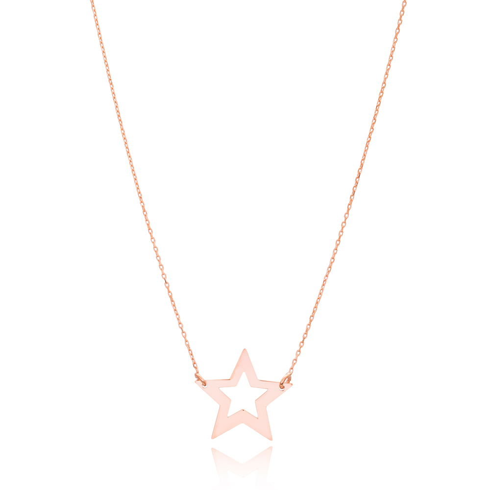 Plain Star Design 925 Sterling Silver Pendant Jewelry