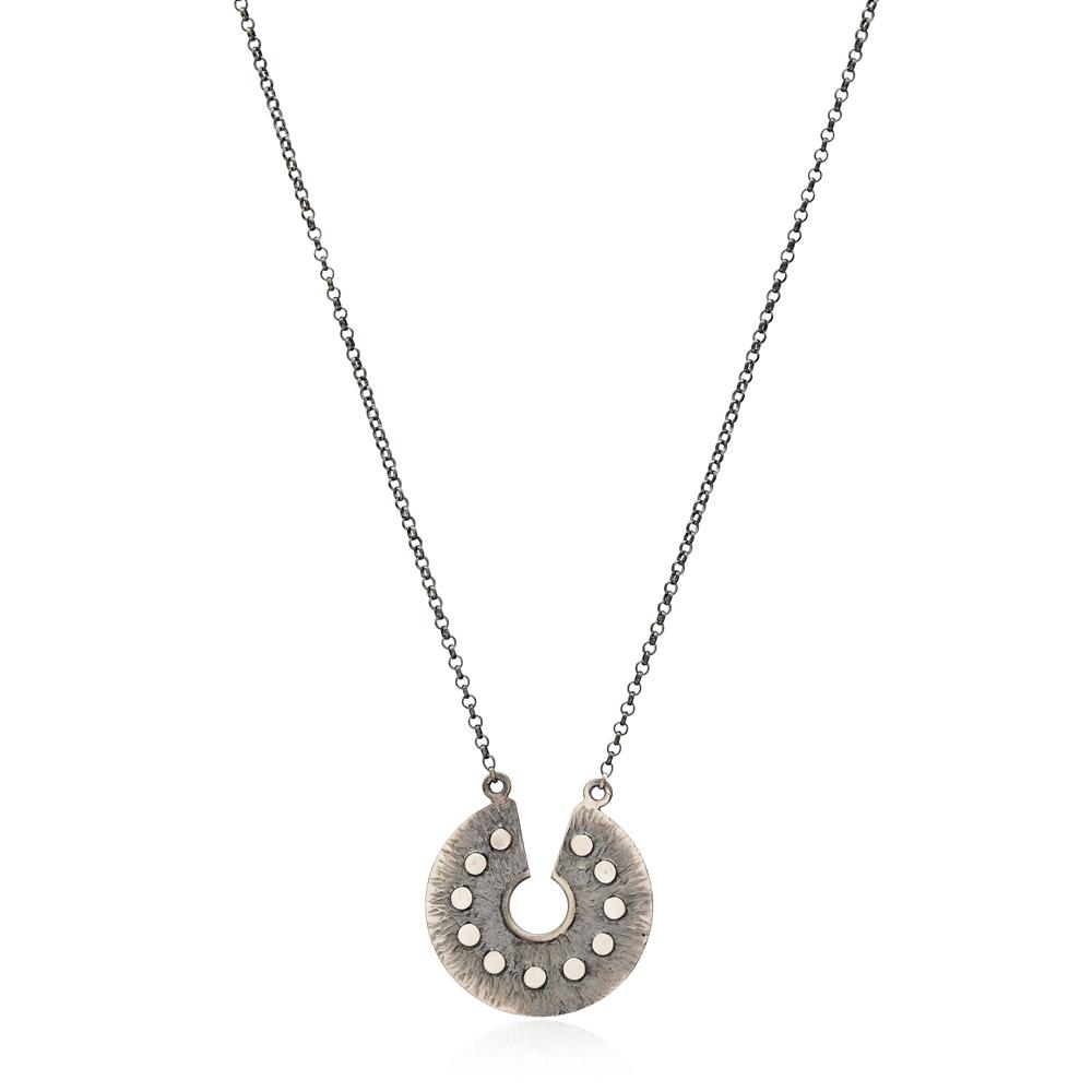 Vintage Oxidized Pendant Wholesale Handmade Turkish 925 Silver Sterling Jewelry