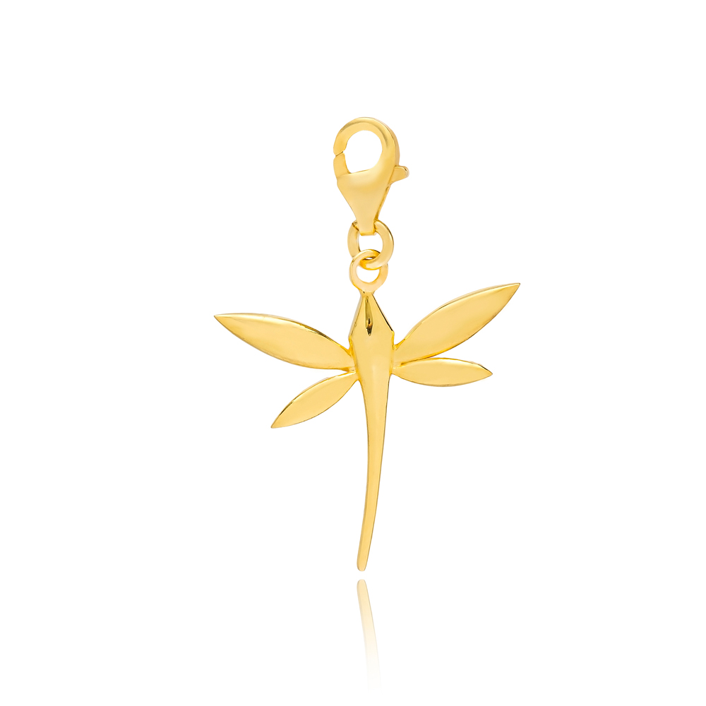 Bright Dragonfly Charm Wholesale Handmade Turkish 925 Silver Sterling Jewelry