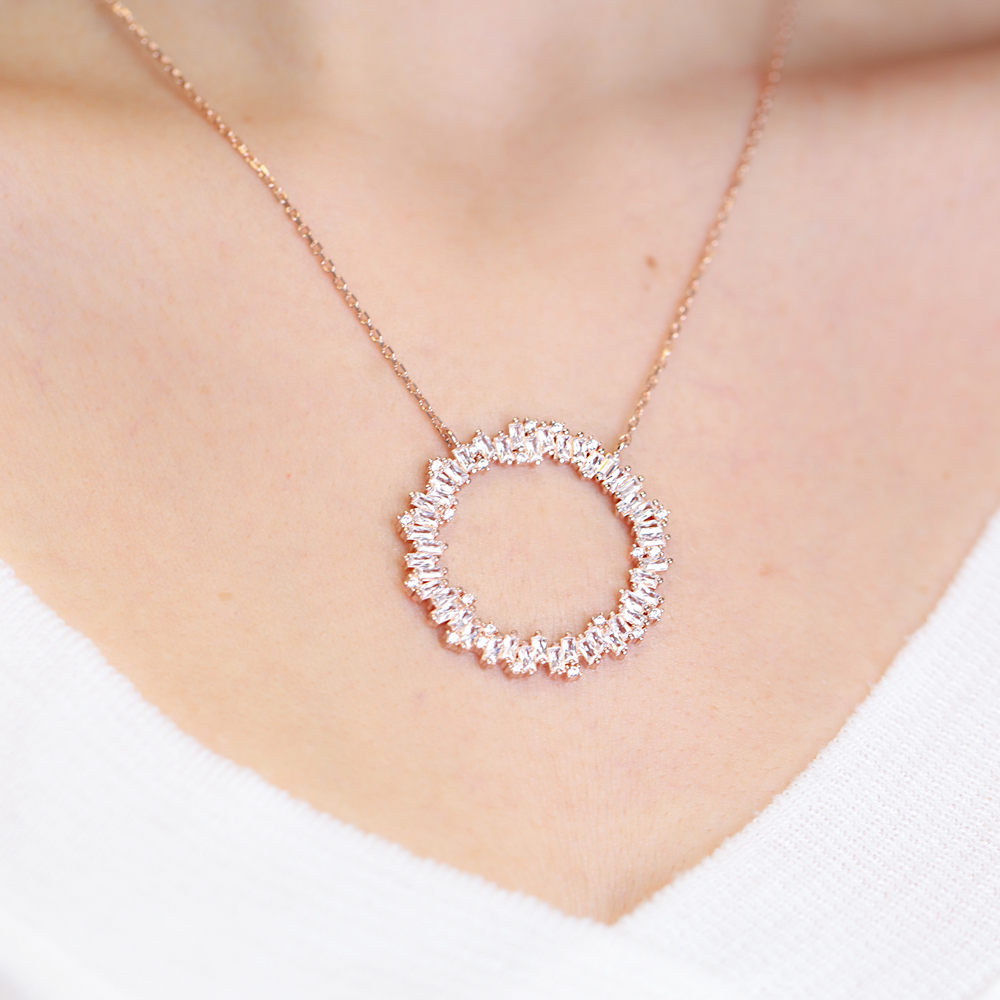 Trendy Hollow Design Jewelry Wholesale Handmade 925 Silver Sterling Necklace