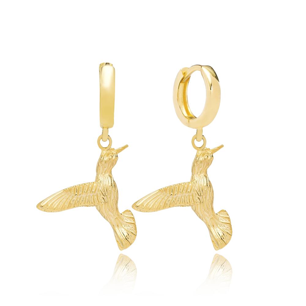 Colibri Bird Earrings Turkish Wholesale 925 Sterling Silver Jewelry