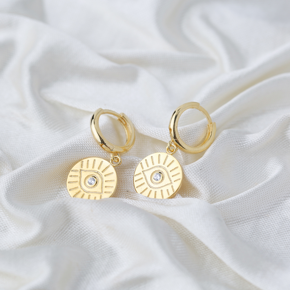 Evil Eye Earring Wholesale Handmade Turkish 925 Silver Sterling Jewelry