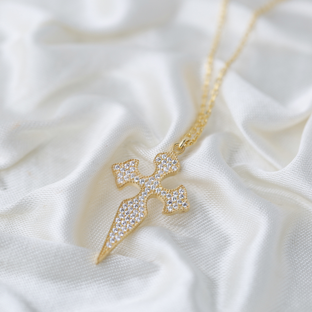 Cross Design Pendant Turkish Wholesale Handmade 925 Sterling Silver Jewelry