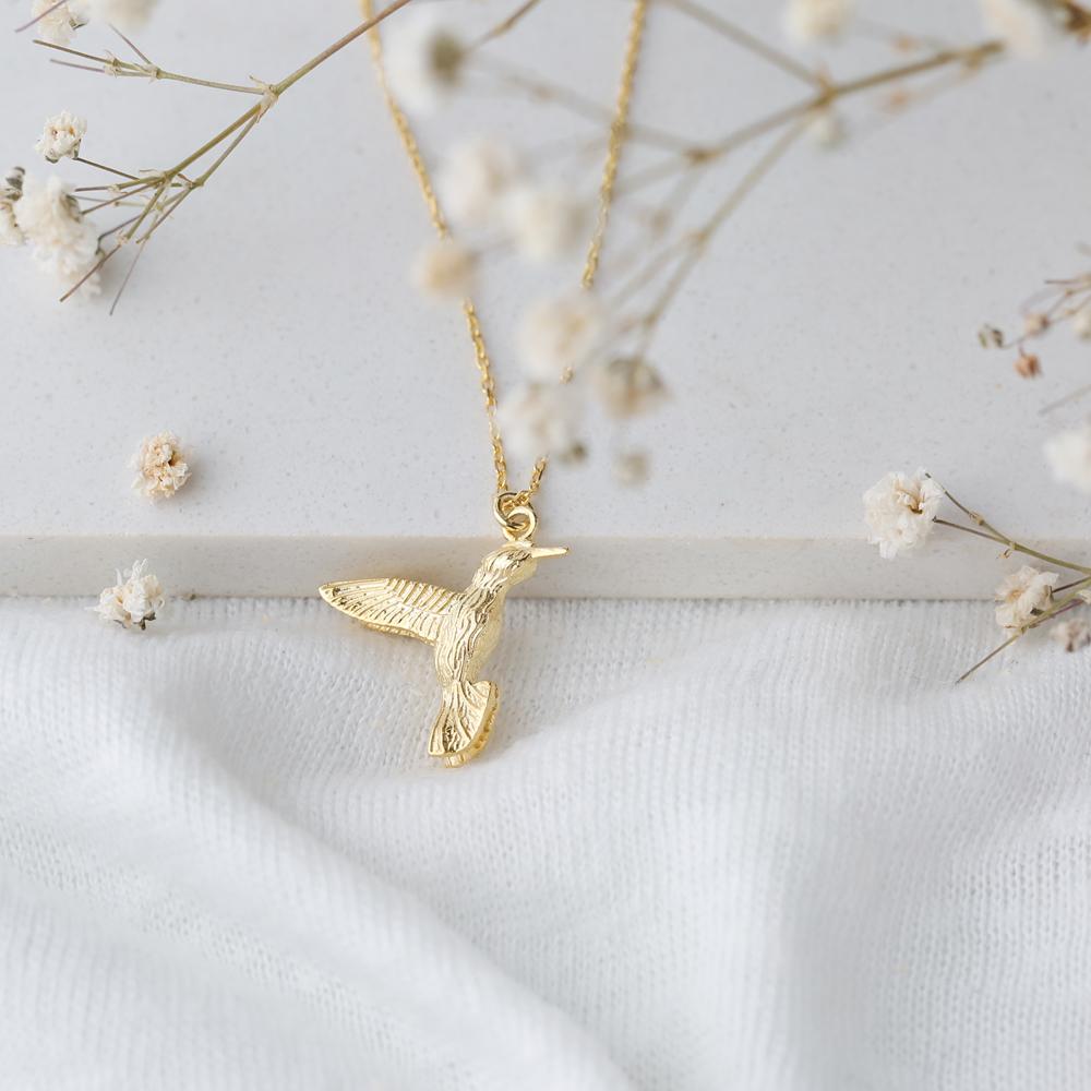 Colibri Bird Design Pendant Turkish Wholesale Handmade 925 Sterling Silver Jewelry