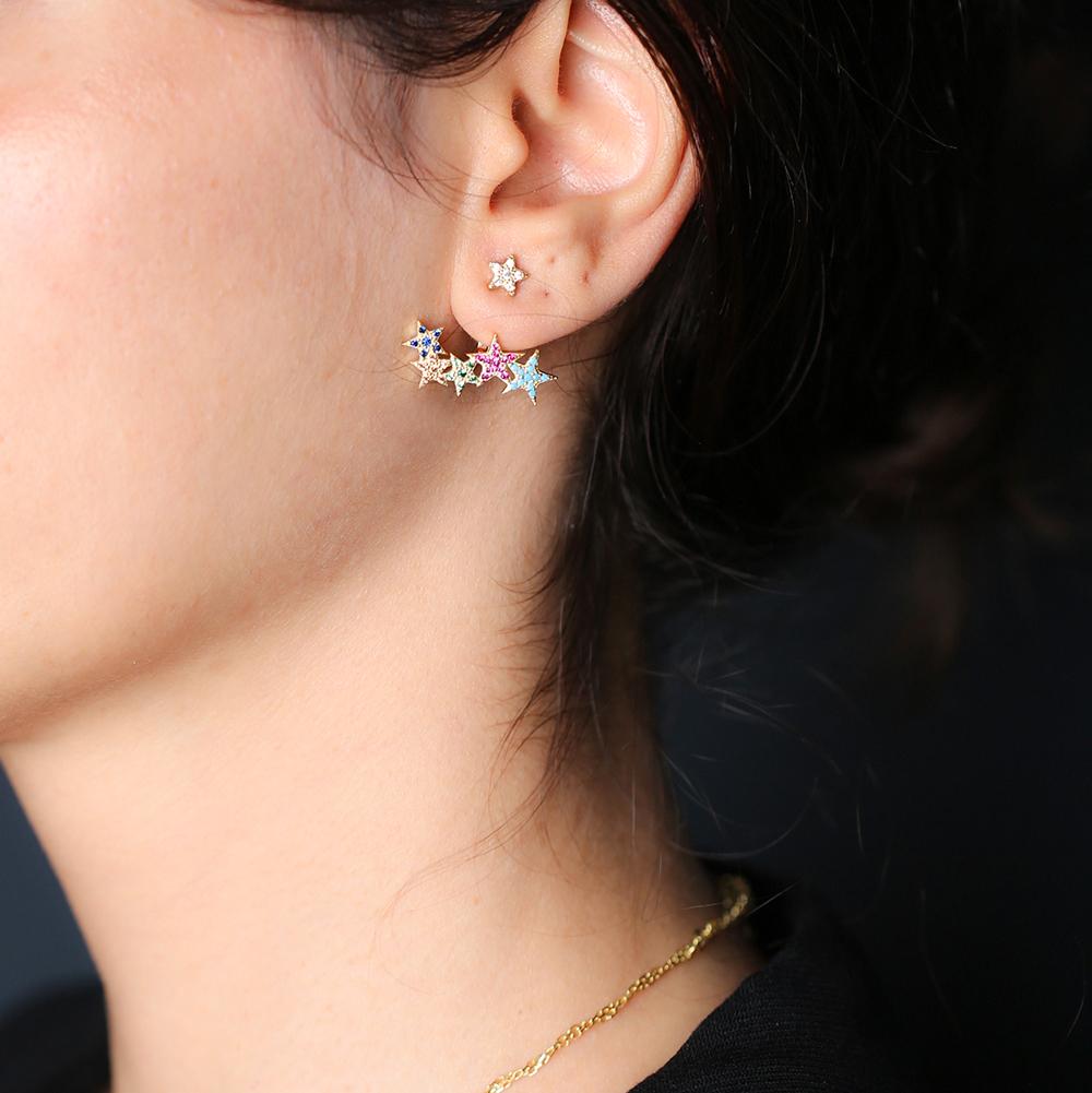 Rainbow Star Design Turkish Wholesale Handcrafted Silver Jewelry