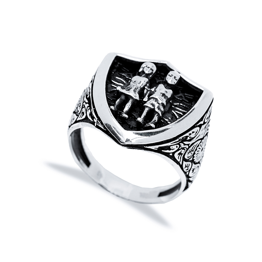Gemini Zodiac Design Men Signet Ring Wholesale Handmade 925 Sterling Silver Men's Jewelry