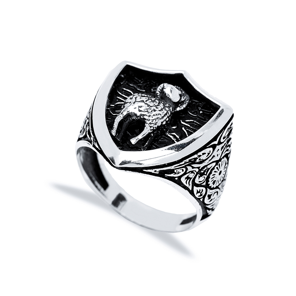 Aries Zodiac Design Men Signet Ring Wholesale Handmade 925 Sterling Silver Men's Jewelry