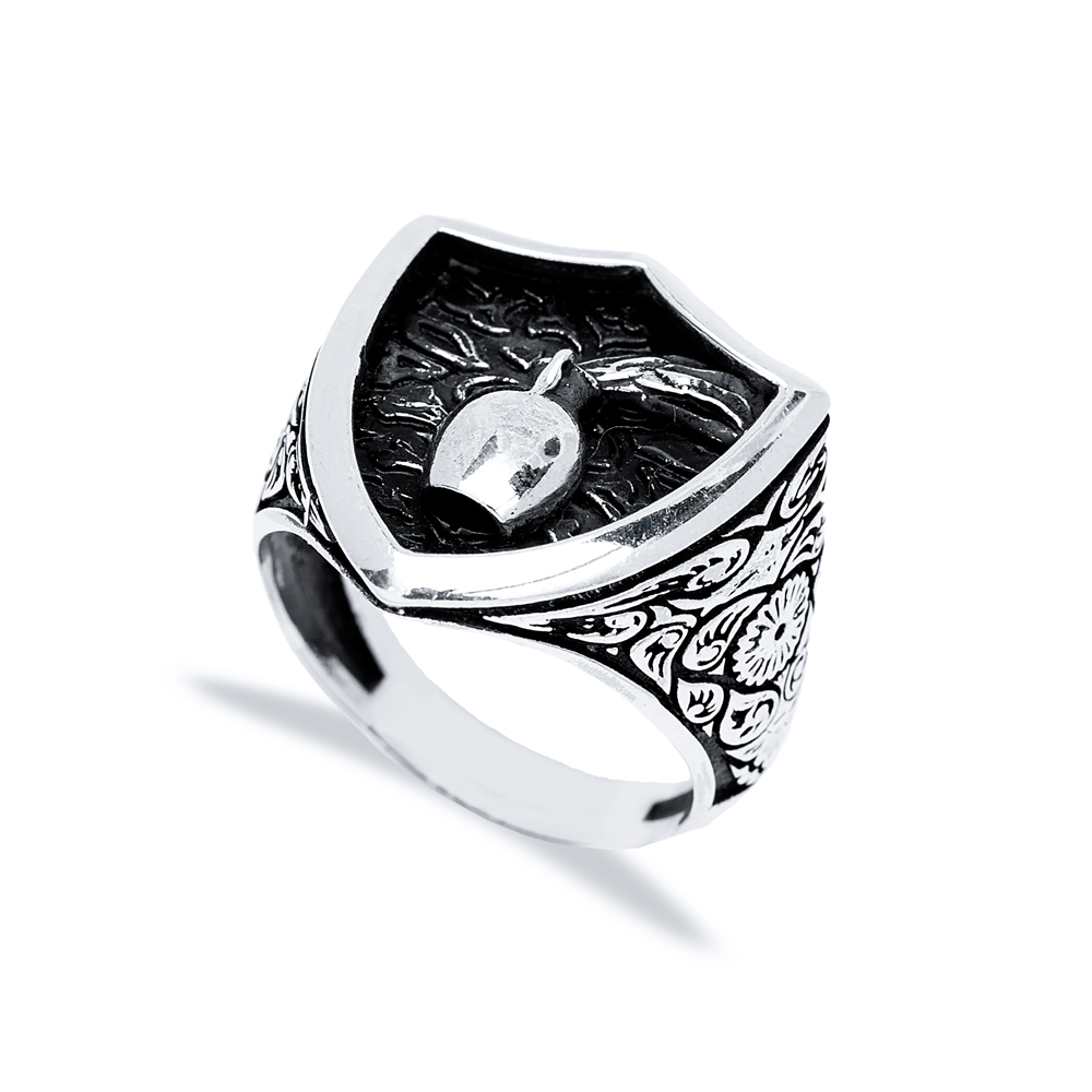 Aquarius Zodiac Design Men Signet Ring Wholesale Handmade 925 Sterling Silver Men's Jewelry