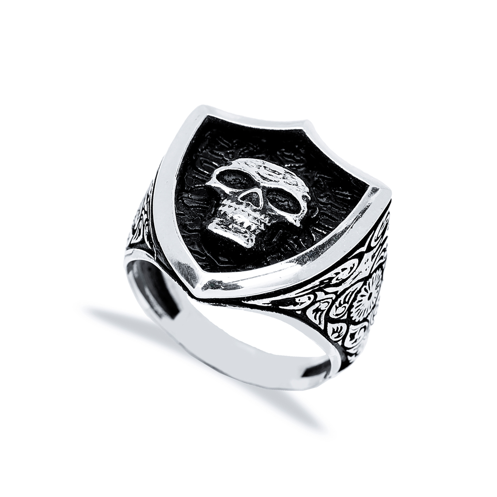 Skull Design Men Signet Ring Wholesale Handmade 925 Sterling Silver Men's Jewelry