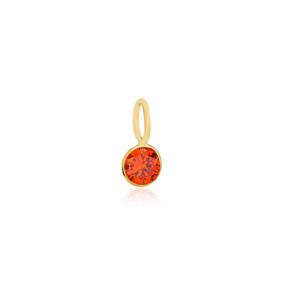 July Birthstone Orange Quartz Charm Wholesale Handmade Turkish 925 Silver Sterling Jewelry