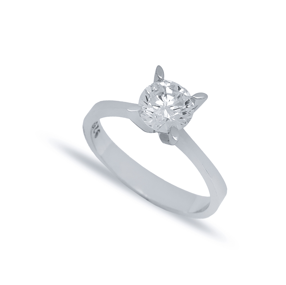 Four Oval Claw Solitaire Engagement Ring Wholesale Turkish 925 Sterling Silver Jewelry
