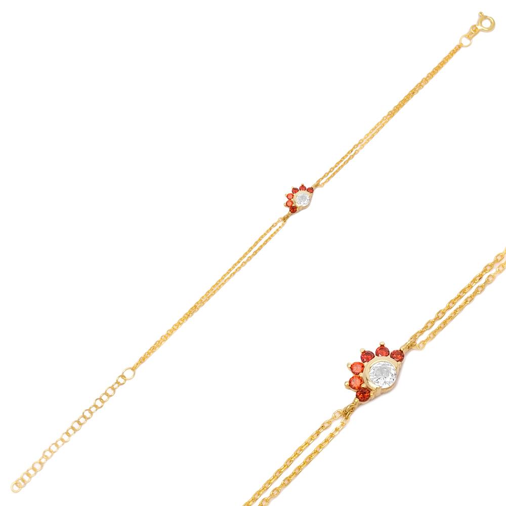 Sparkling Ruby Bracelet Turkish Wholesale 925 Sterling Silver Jewelry