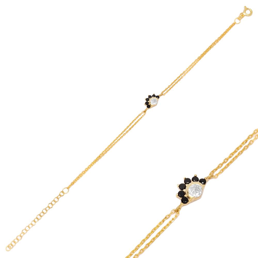 Sparkling Black Zircon Bracelet Turkish Wholesale 925 Sterling Silver Jewelry