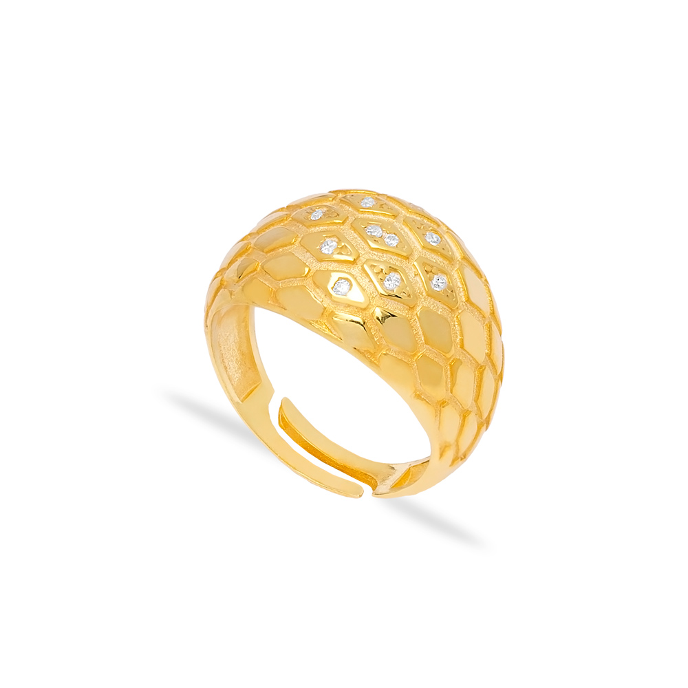 Snakeskin Adjustable Ring Wholesale Turkish 925 Silver Sterling Jewelry