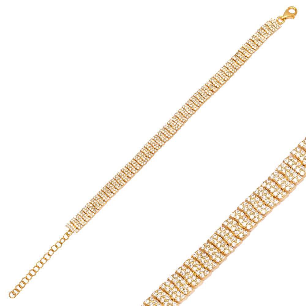 Elegant Design Charm Zircon Bracelet Wholesale 925 Sterling Silver Jewelry