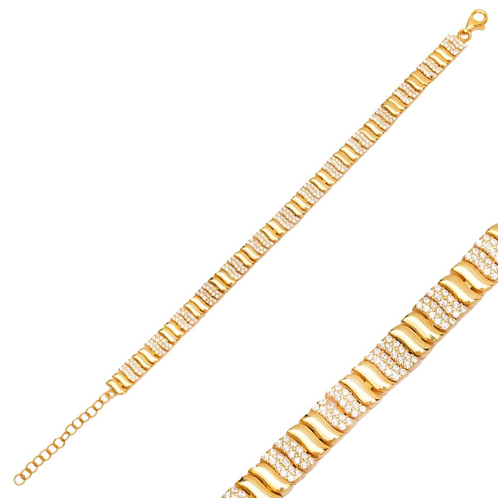 Unique Design Charm Zircon Bracelet Wholesale 925 Sterling Silver Jewelry