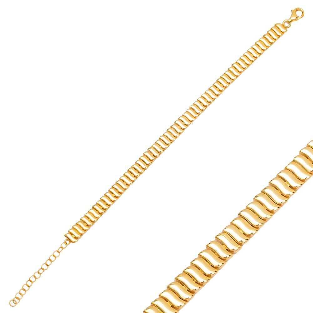 Plain Design Charm Bracelet Wholesale 925 Sterling Silver Jewelry