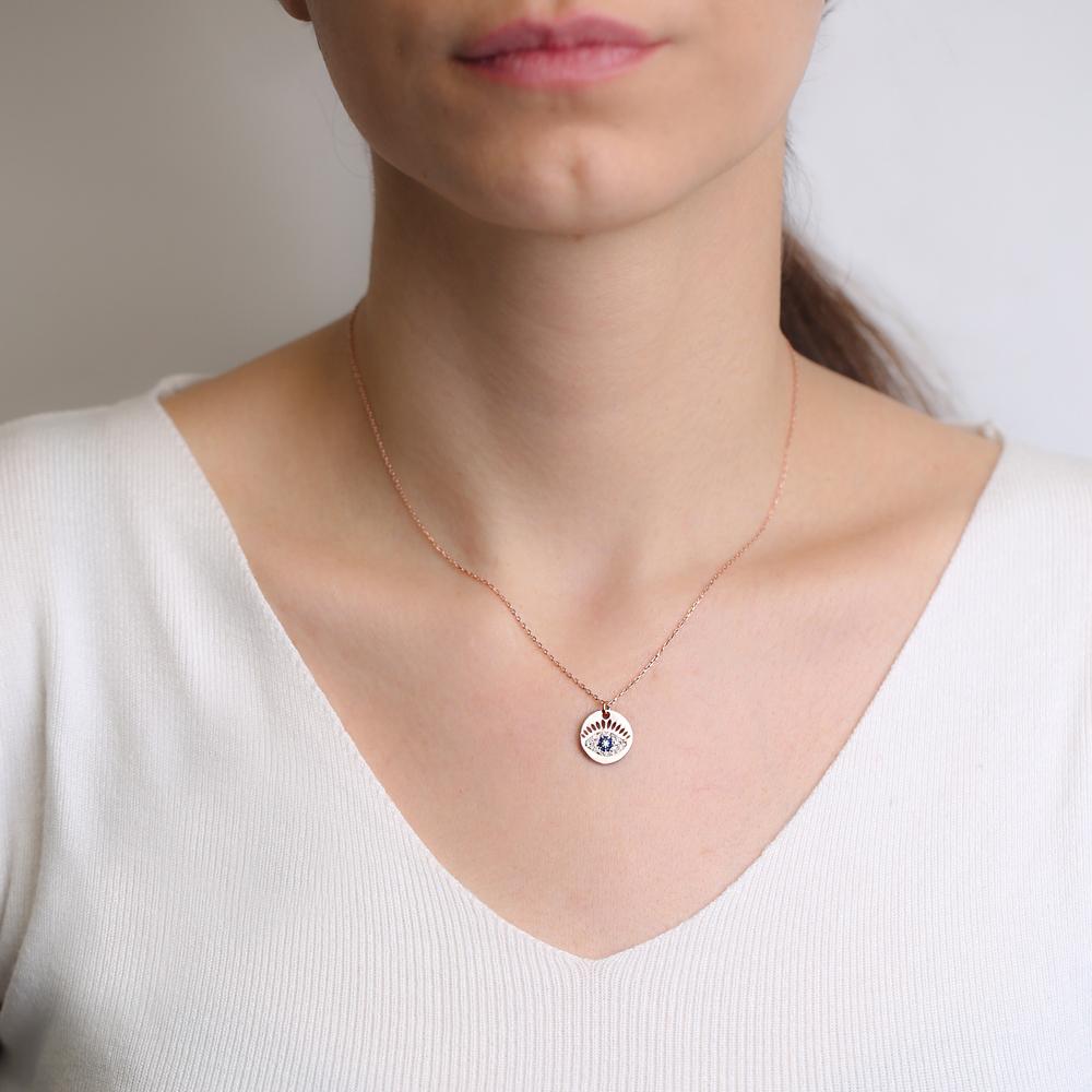 Evil Eye Charm Pendant Wholesale Handmade Turkish 925 Silver Sterling Jewelry
