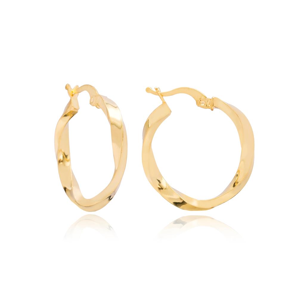 Elegant Ø27 mm Hoop Earrings 925 Sterling Silver Jewelry