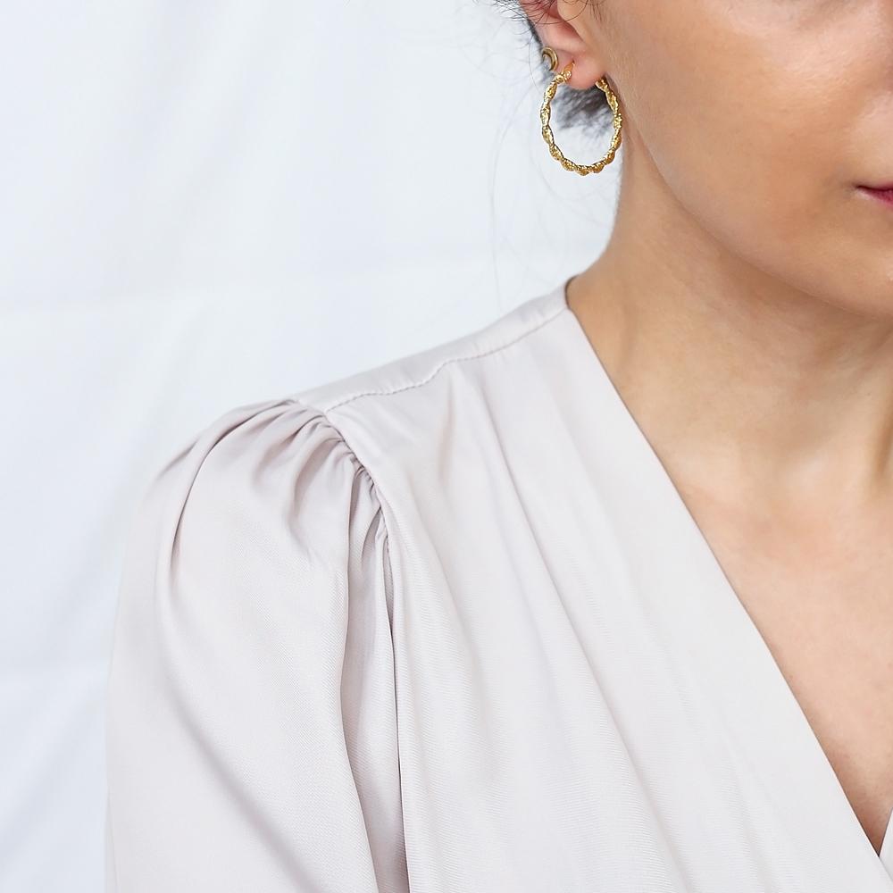 Twisted Ø31 mm Hoop Earrings 925 Sterling Silver Jewelry