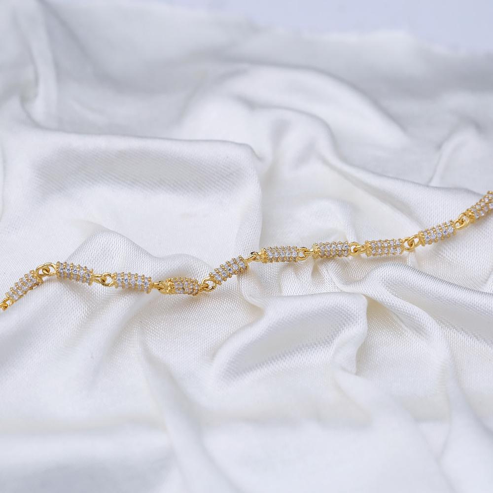 Chic Zircon Charm Anklet Wholesale Handmade Turkish Jewelry