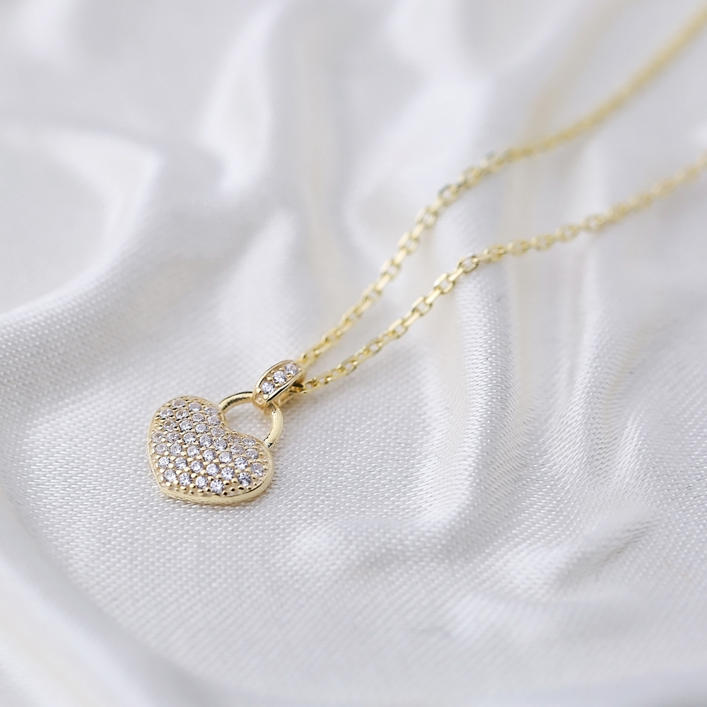 Elegant Heart Charm Pendant 925 Sterling Silver Jewelry