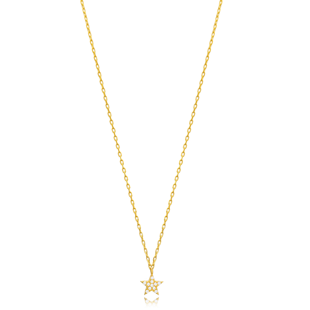 Elegant Star Pendant Turkish Wholesale Sterling Silver Jewelry